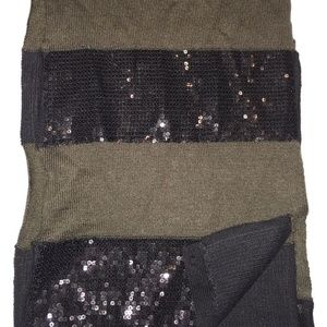 Alice + Olivia Wool Soft Sequin Scarf Wrap LN WOW
